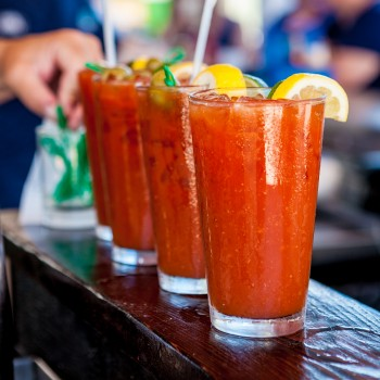 Three Bloody Mary Drinks